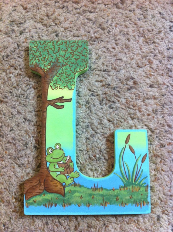 Custom Hand Painted Letters You choose the theme by SweetPeasButterBeans