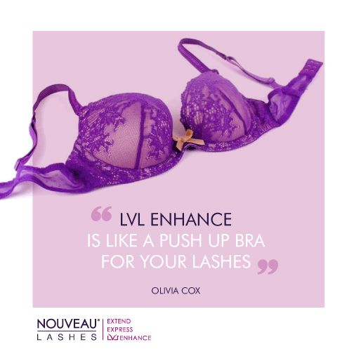 """LVL Enhance - """"Like a push-up bra for your lashes"""", Olivia Cox. #lvl #lvllashes #lashes"""