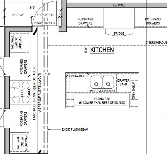 Kitchen Layout Dimensions With Island: Kitchen Floor Plan Layouts With Island