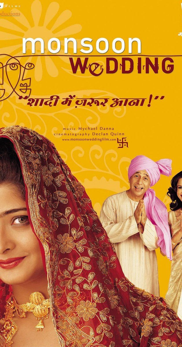 Directed by Mira Nair.  With Naseeruddin Shah, Lillete Dubey, Shefali Shetty, Vijay Raaz. A stressed father, a bride-to-be with a secret, a smitten event planner, and relatives from around the world create much ado about the preparations for an arranged marriage in India.