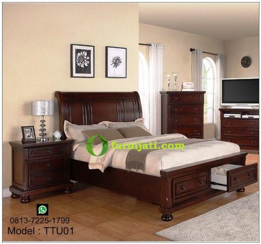 Harga tempat tidur kayu jati ukiran