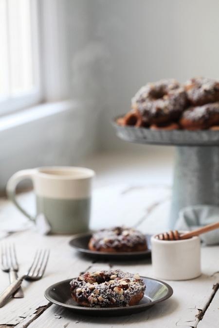 Cinnamon Roll Almond Flour Donuts - grain, gluten and processed sugar free