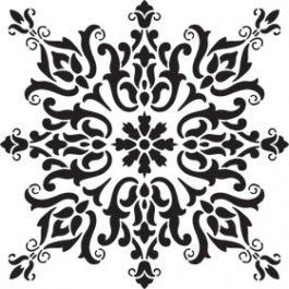 stencil patterns for furniture | ... BARCELONA TILE STENCIL ORNAMENTAL COLLECTION ROYAL STENCILS EXCLUSIVE