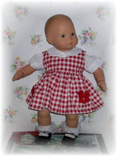 Doll clothes. Jumper and blouse for Bitty Baby.