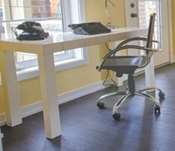 This desk and chair taken from storage (used in previous models). If you are looking for an alternative selection see other Pin for alternate choice.  #Uptownes  Design: Jo-Ann Capelaci  Builder: Geranium Homes
