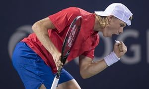 Denis Shapovalov beating Nadal in 3 sets at Coupe Rogers 2017.