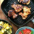 Mexican Molasses Lime Grilled Chicken is an easy chicken dish with pizazz. It's perfect for your weekend barbecue but is quick enough for a weeknight. The recipe uses boneless, skinless chicken thighs, which I find are more moist and flavourful than chicken breasts, and cheaper too.