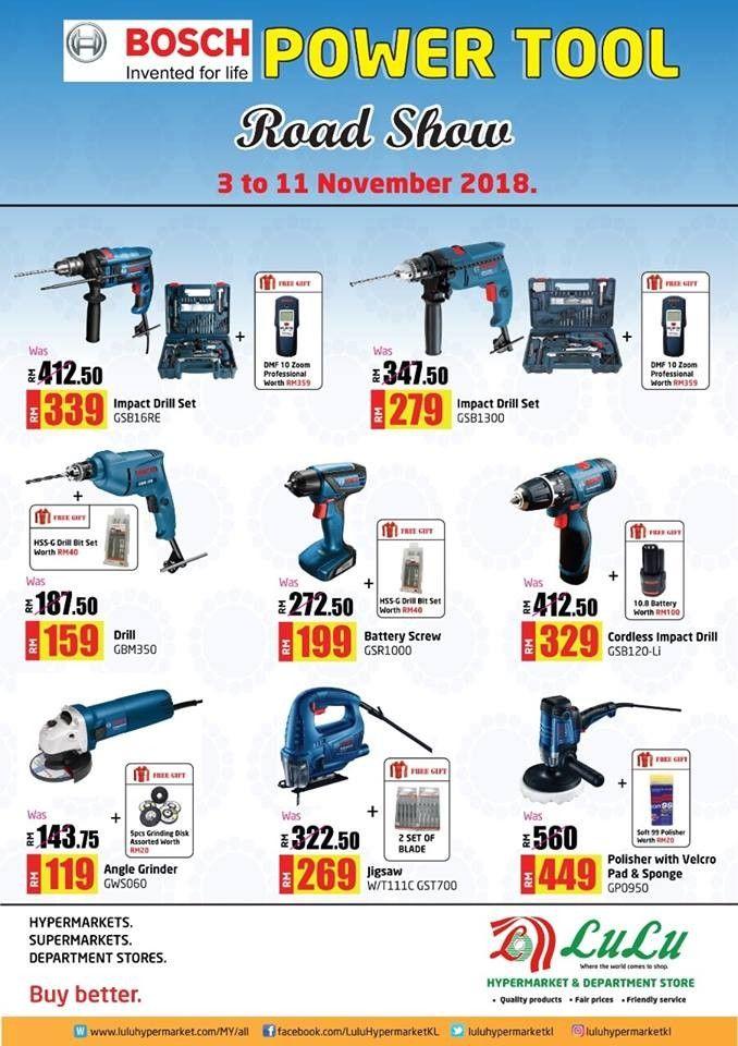 3-11 Nov 2018: LuLu Hypermarket Bosch Power Tool Roadshow   Malaysia