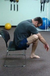 Self Trigger Point therapy using tennis ball Self trigger point therapy using a ball. Find a painful spot in the glutes, relax your body into the ball, hold position for 30-60 seconds…