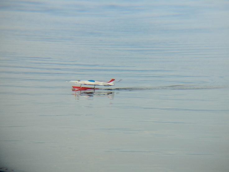 猪苗代湖(ボートやジェットスキーの他、ラジコン飛行機を飛ばされている方もいました) - 2012.06.02