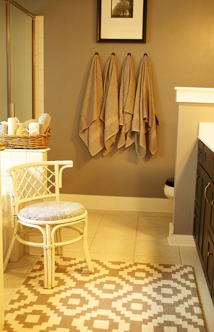 One Room Challenge - The Master Bathroom Reveal - Laurie Jones Home  Love the hooks in place of the towel bar!