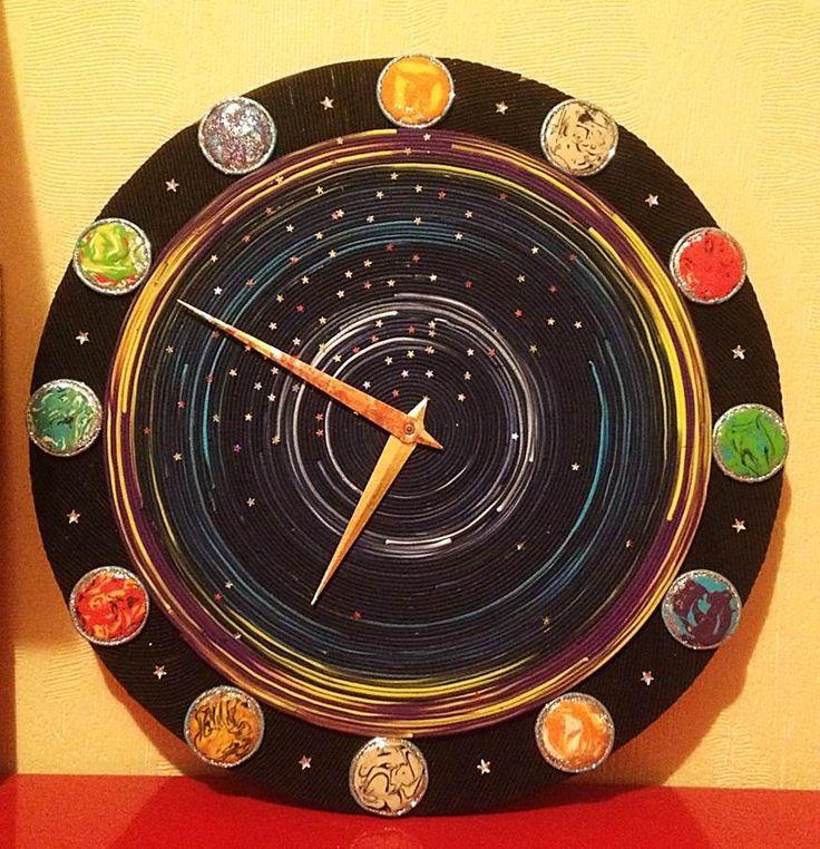 Fantastic Universe Clocks for kids, Unique wall clocks, Modern wall clock, Clock for kids, Kids clock, Kids room decor, Unusual Clocks by DOSHE on Etsy