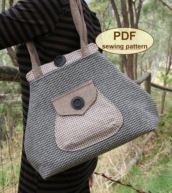Premium Bond Bag PDF sewing pattern INSTANT by charliesaunt, $8.00