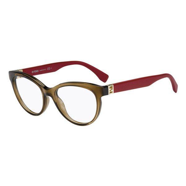 Fendi FF 0008 THE FENDISTA 7RI Eyeglasses ($210) ❤ liked on Polyvore featuring accessories, eyewear, eyeglasses, mud strawberry, fendi eye glasses, fendi glasses, lens glasses, fendi eyewear and fendi eyeglasses