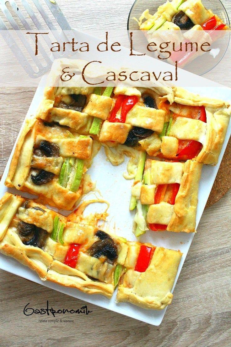 TARTA DE LEGUME SI CASCAVAL - Tartele nu sunt doar pentru desert! Aceasta superba tarta de legume si cascaval poate fi un fel de mâncare principal fabulos, un aperitiv atractiv la petreceri sau o pizza cu o forma distractiva minunata!