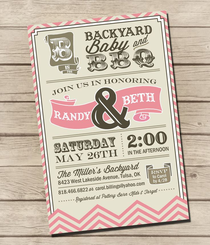 Baby Showers Bbq ~ Printable couples bbq baby shower invitation by