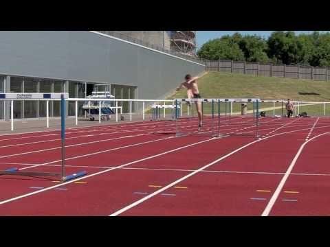 Lawrence Clarke 110m Hurdles training - 21st June 2010 - YouTube
