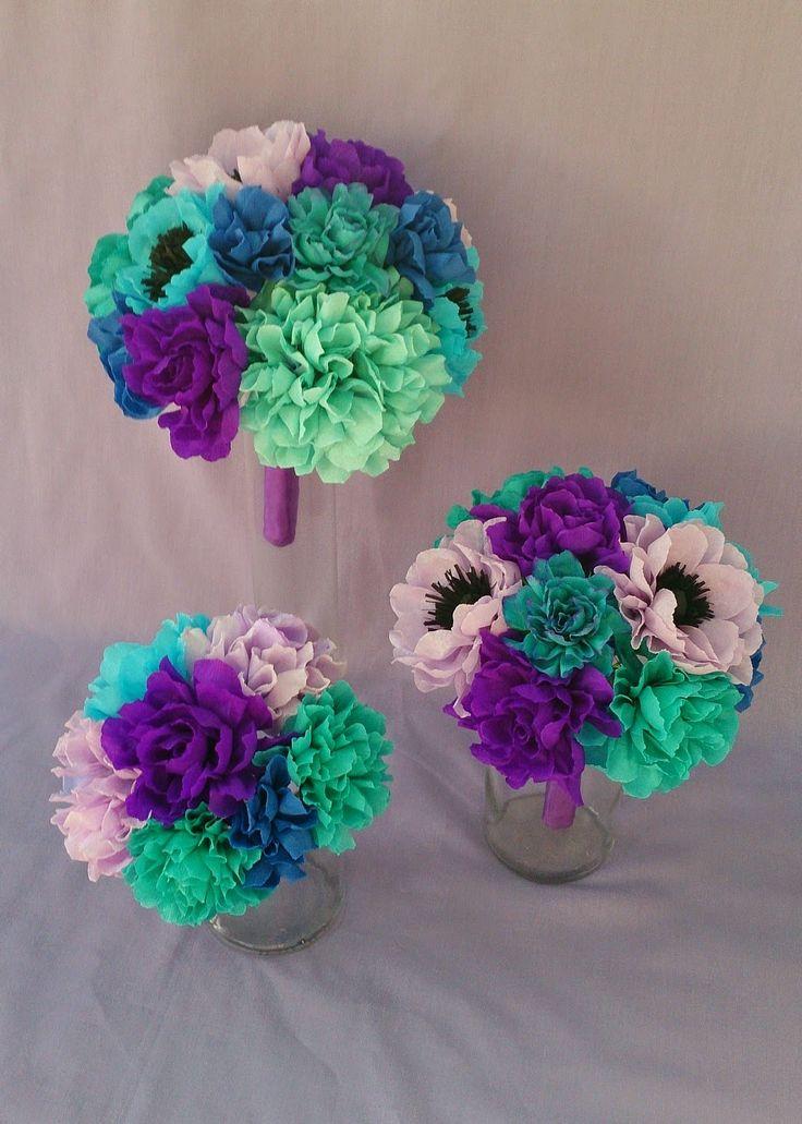 Crafty little Beanut!: Beautiful mixed paper flower set