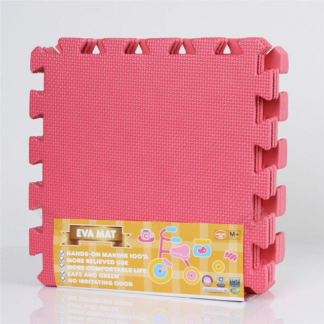 Meitoku baby EVA Foam Play Puzzle Mat/9pcs/lot Interlocking Exercise Tiles Floor Mat for Kid,Each 30cmX30cm