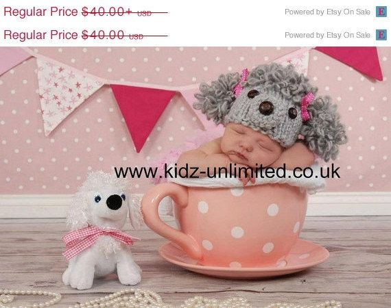 Sale.. Poodle hat...baby hat... newborn photo prop...photograpy prop Many colors..25% off with code SUMMER1