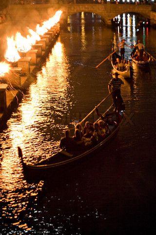 Gondola rides at Waterfire @waterfireprov #lovewaterfire