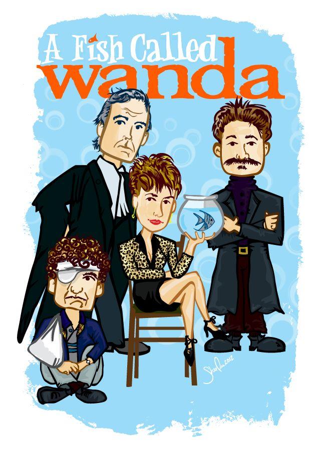 fish called wanda vector movie poster my art and design