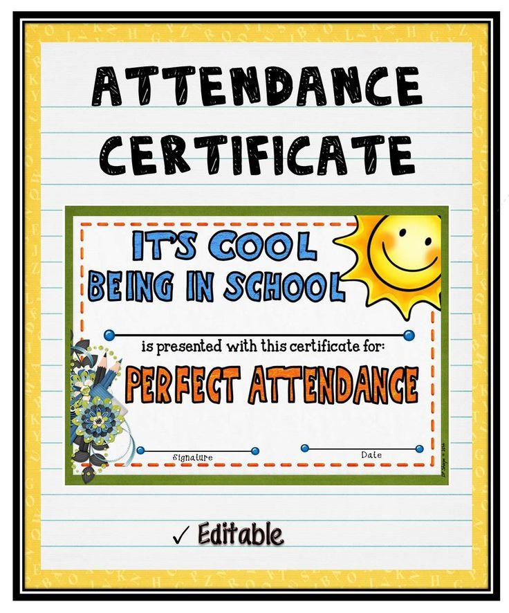 Best 25+ Attendance certificate ideas on Pinterest Certificate - free printable perfect attendance certificate template