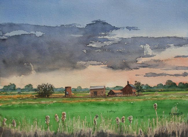 Acle, towards Stokesby, Norfolk. by peter french £85