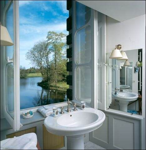 The view from our loo :-) at our Normandy hotel Chateau de Canisy in France.