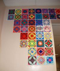 name mandala. I've done this with my grade 4 and 5's. Beautiful and SO simple…