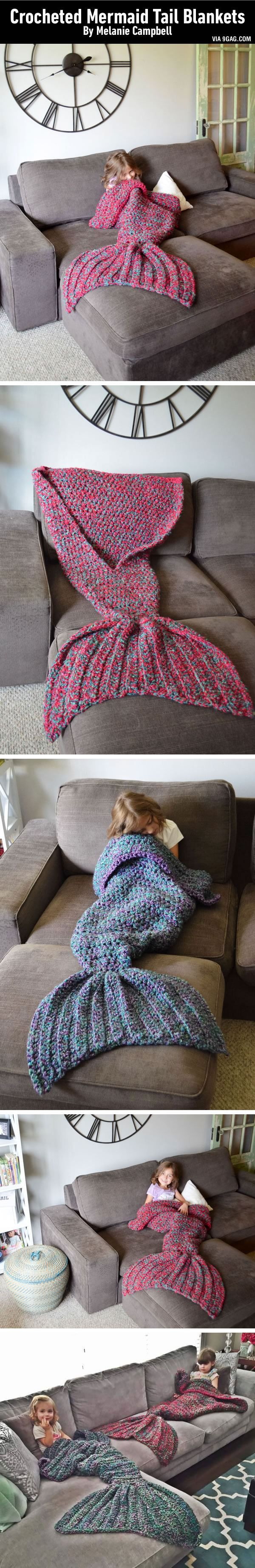 My dream of becoming a Mermaid and keeping myself warm has finally come true. LINK: beginner's crochet pattern this was inspired by. Can be found on Etsy at CassJamesDesigns but orders are backed up until after the holidays.