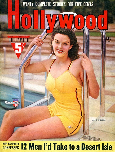 Jane Russell on the cover of the June 1941 edition of Hollywood magazine