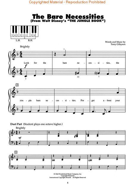 disney piano sheet music pdf