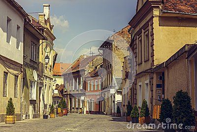 Medieval Houses And Promenade Alley - Download From Over 28 Million High Quality Stock Photos, Images, Vectors. Sign up for FREE today. Image: 44457453