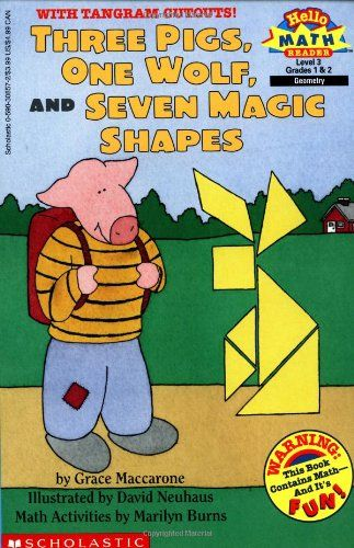 Three Pigs, One Wolf, Seven Magic Shapes (level 3) Tells the story of three pigs who acquire some magic shapes, which they use for various purposes, some smart and some not so smart. Includes a section with related activities.