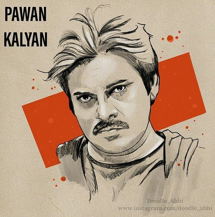 798 Likes 2 Comments Pawan Kalyan Pawankalyanfans On Instagram Art By Doodle Abhi Sketches Drawings Toned Paper