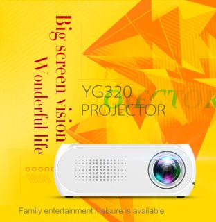 Free shipping world wide ​YG320 Portable LCD Projector, Support HD Video for Home Theater Cinema / Game / TV ​