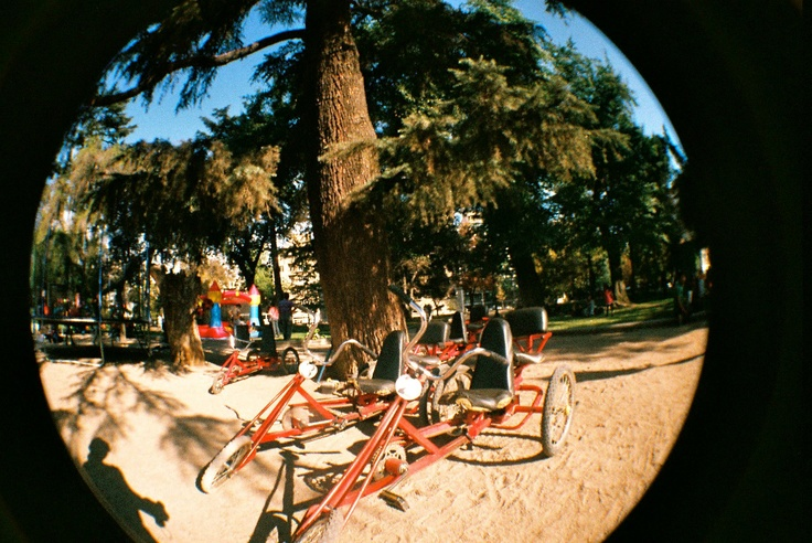 Fish Eye  Parque Forestal. Santiago, Chile.