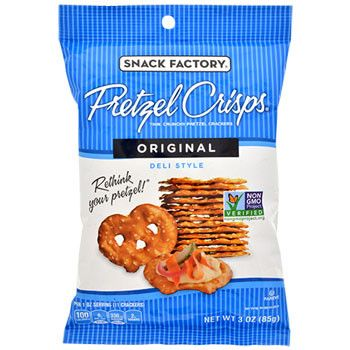 Snack Factory Original Pretzel Crisps, 3-oz. Bags