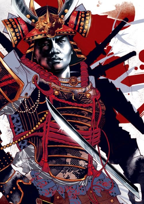 As incríveis ilustrações de Kent Floris Samurai