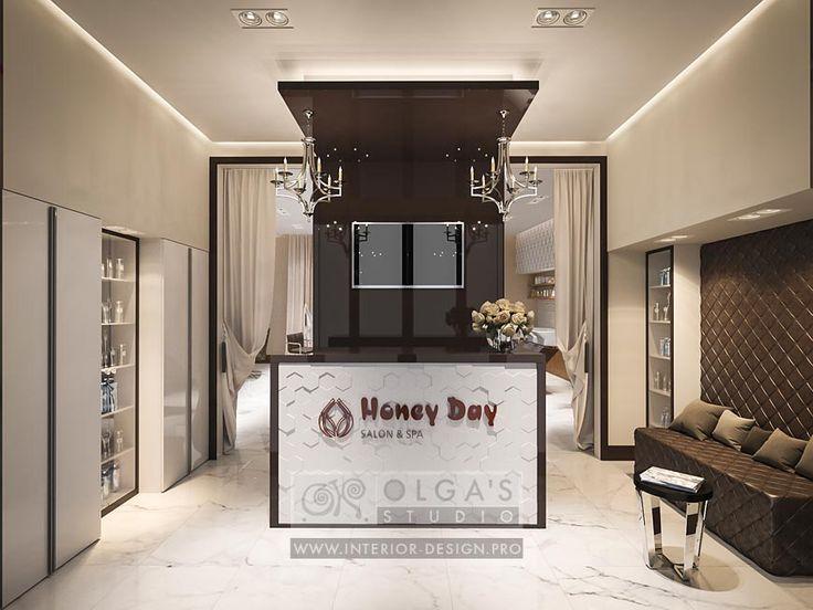 Spa Salon Reception Design Idea http://interior-design.pro/ru/dizayn-salonov-krasoty-photo-interyerov