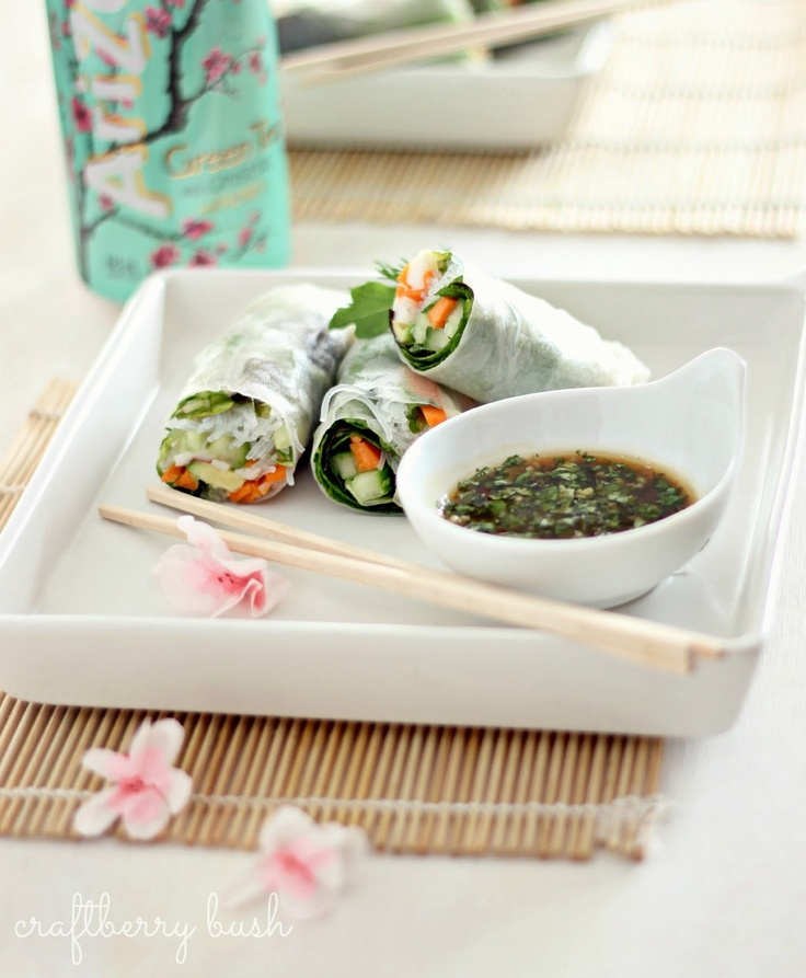 Salad rolls - a Vietnamese spring roll with crab, avocado and veggies.  My favourite Vietnamese place back home made them with shrimp.  Yummy!