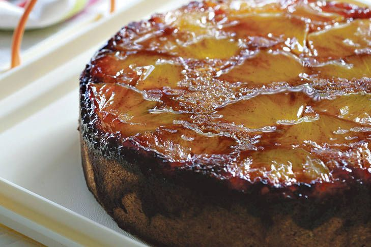 This pineapple upside down cake is a lovely light cake that gets its richness from the sweet and sticky spiced pineapple.