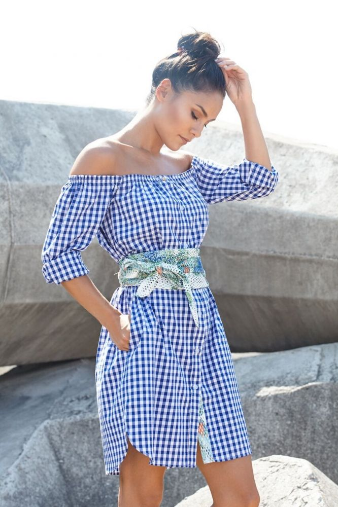 #MaishaConcept Check Off the Shoulder Dress #Africanfashion #Ichyulu
