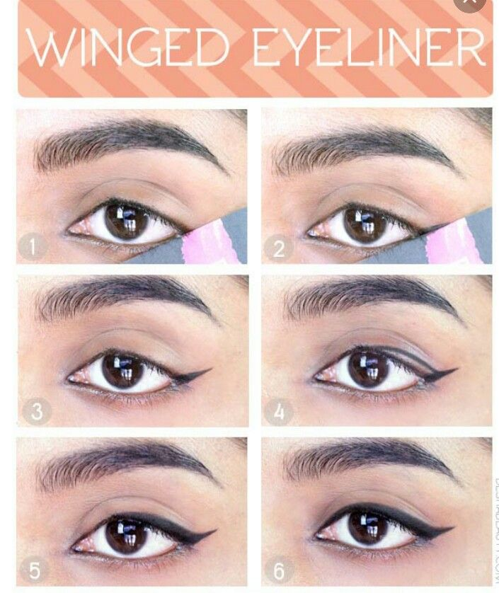 How to apply eyeliner with tape/ support