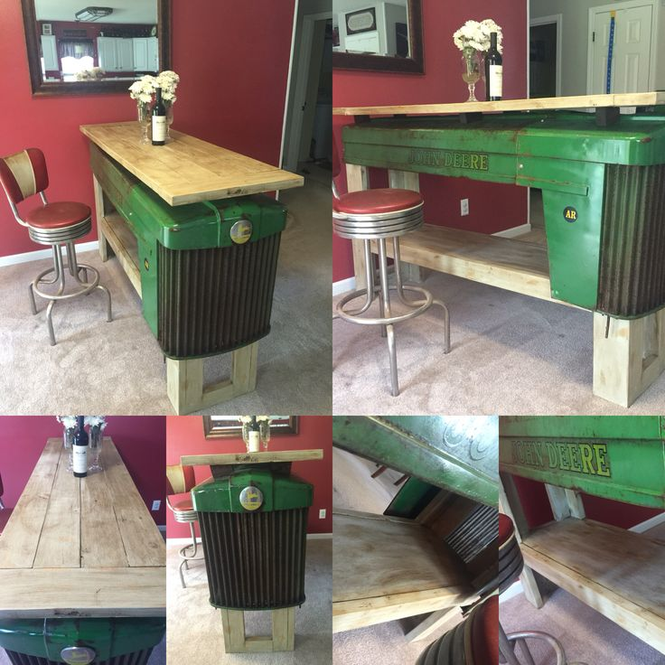 Handy Hinch original John Deere tractor table. handyhinch.com