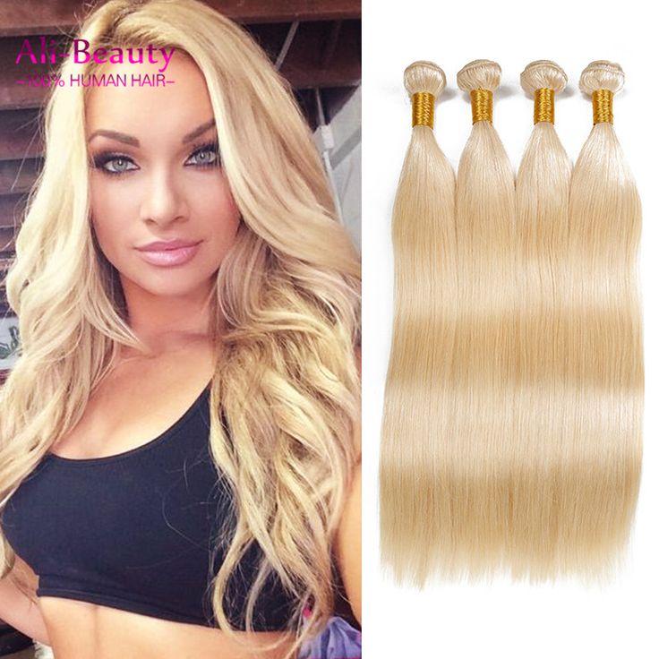 Peruvian Virgin Hair Grade 8a Unprocessed Human Hair Extensions Blonde Virgin Hair Straight Weave Cheap Bundles Of Weave Capelli