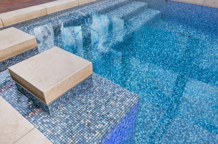 Jasba mosaic pool tiles from the Kauri series.