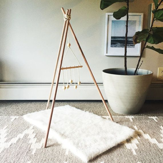 Wooden Teepee Baby Gym