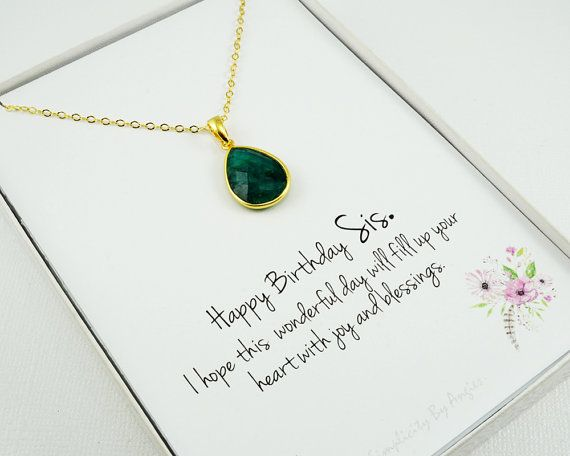 May Birthstone Necklace  Emerald Quartz  by SimplicityByAngies